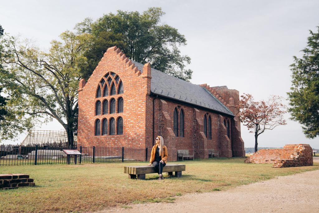 Williamsburg Virginia Guide and Itinerary - Memorial Church at Jamestown Island