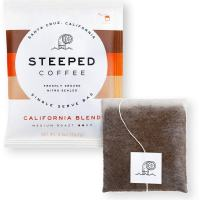 Single serve coffee bag for car camping