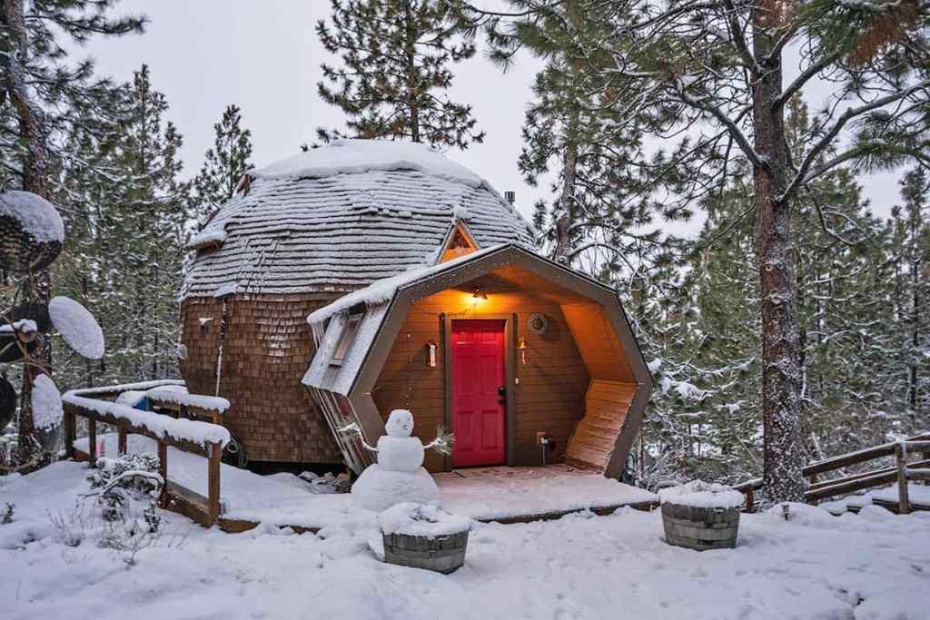 Unique Oregon Cabin To Rent - Dome Sweet Dome Cabin