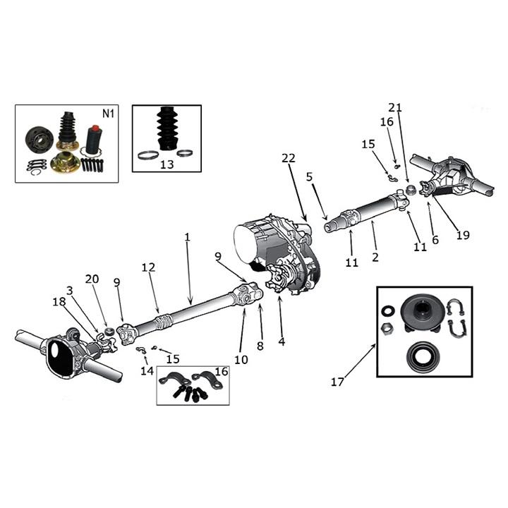 Kardanwelle & Kreuzgelenk für Jeep Grand Cherokee ZJ / ZG