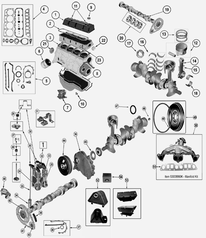 Jeep Cherokee XJ 2,5 L 4 Zyl. Benzin Motor
