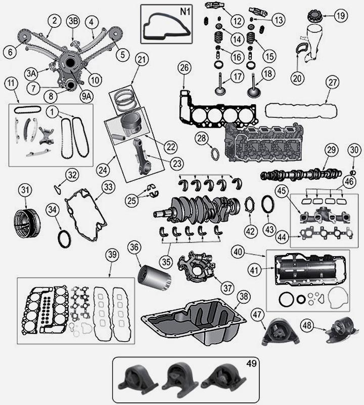 4,7 L 8 Zyl. V8 Motorteile für Jeep Grand Cherokee WJ / WG