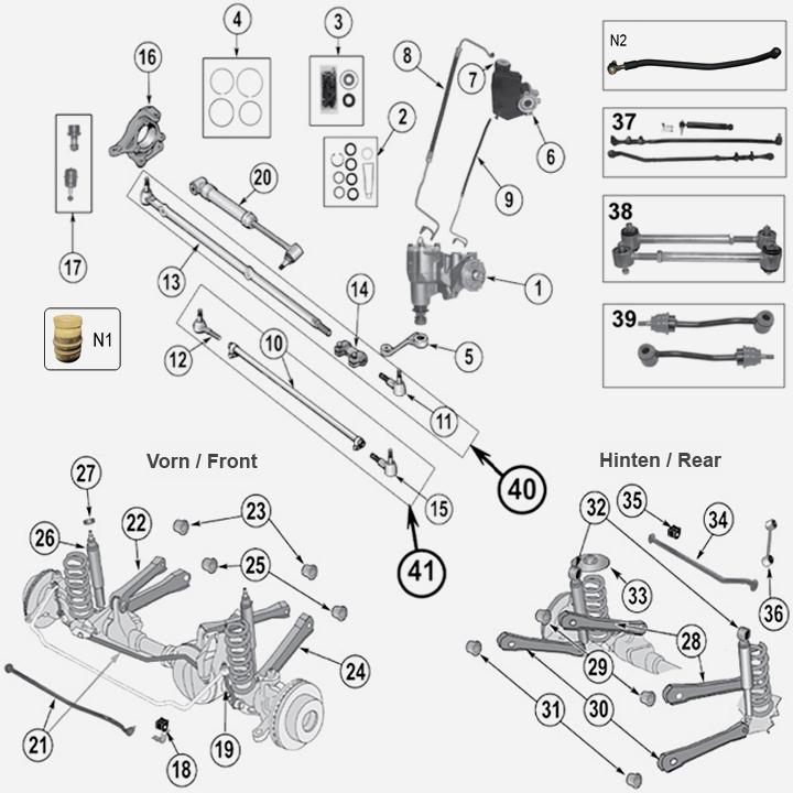 Federung & Fahrwerk für Jeep Wrangler