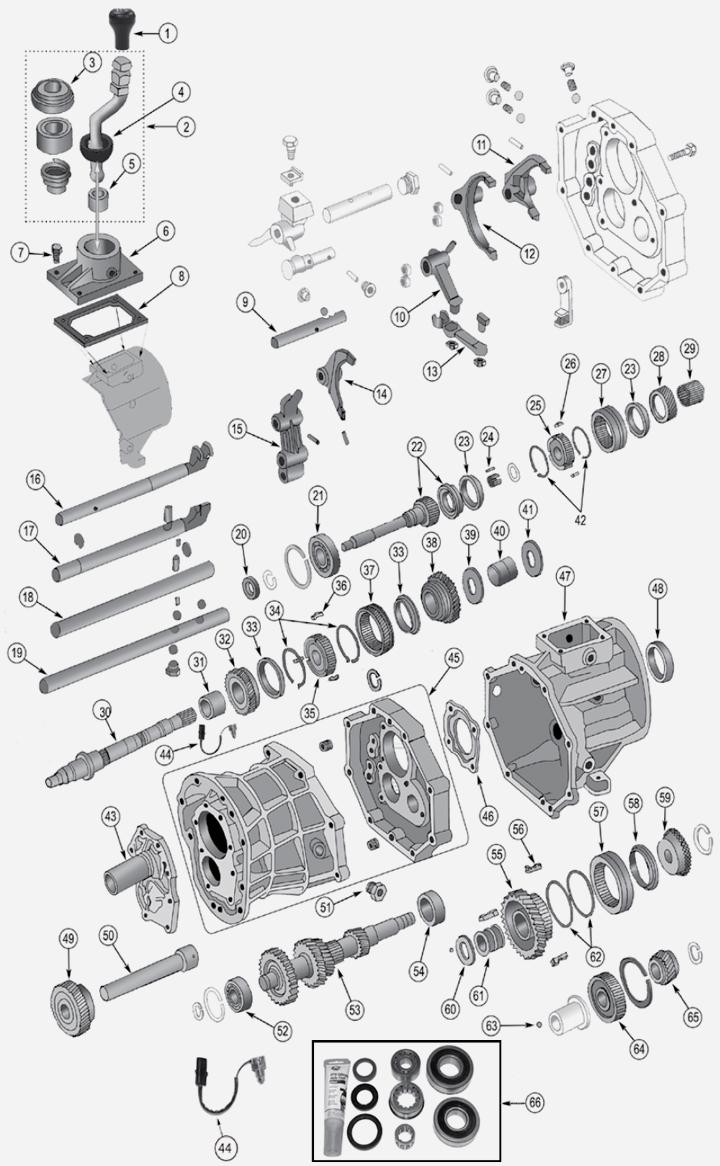 Jeep Wrangler TJ AX15 Schaltgetriebe