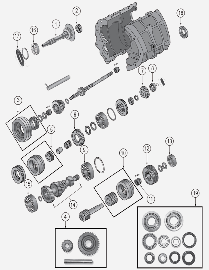 BA10/5 Transmission for Jeep Wrangler YJ