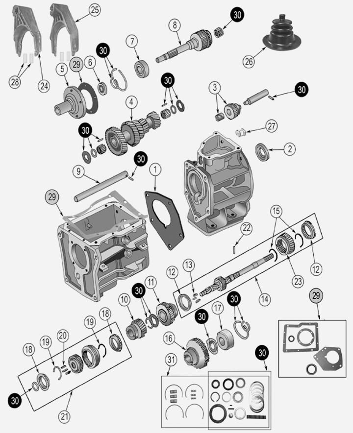 SR4 Schaltgetriebe für Jeep CL