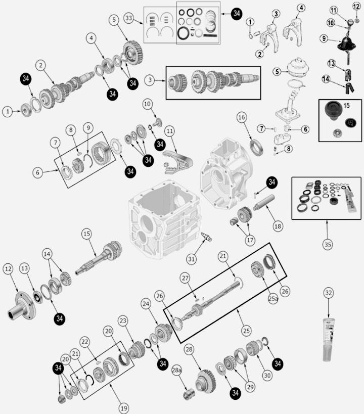 Jeep CJ T5 Schaltgetriebe