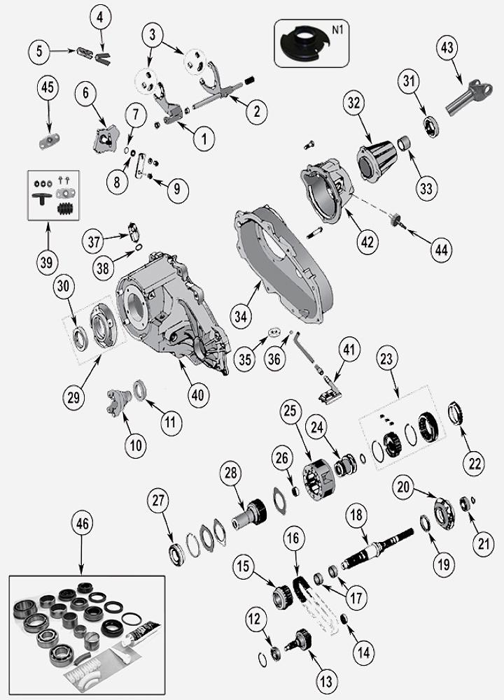 NP231 Verteilergetriebe für Jeep Grand Cherokee ZJ / ZG