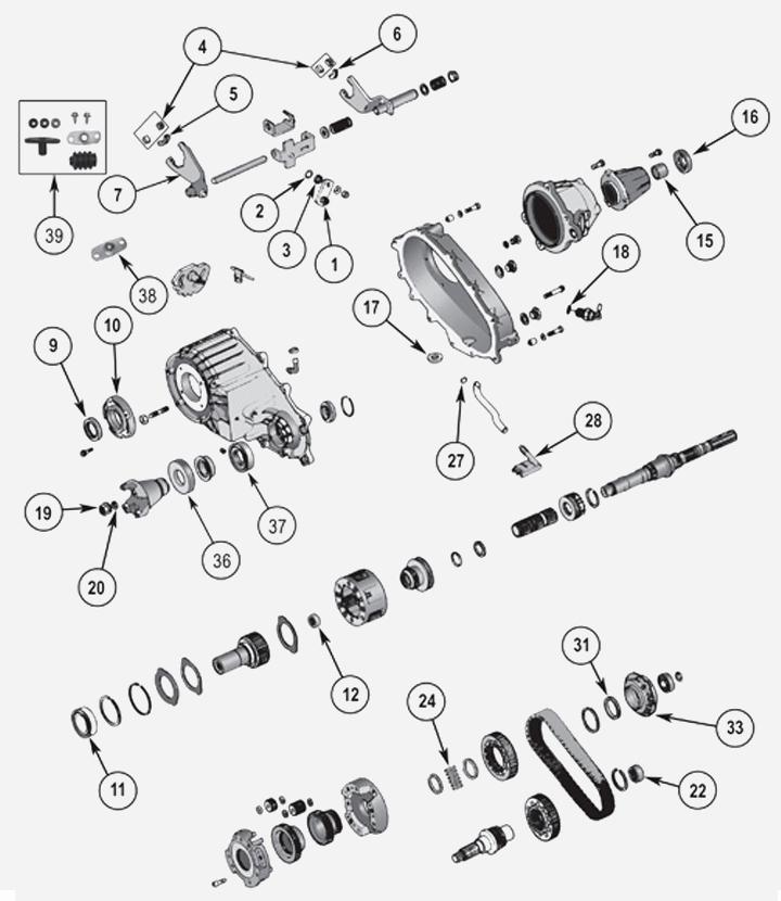 NP242 + NV242 Verteilergetriebe für Jeep Cherokee Liberty KJ