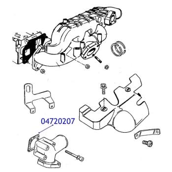 Jeep Cherokee XJ 2,5 TD Dichtung Krümmerdichtung