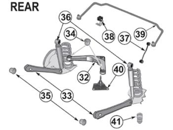 Control Arm Bushing Rear Upper original Mopar