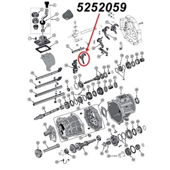 Jeep Wrangler TJ Schaltgabel 5. Gang AX15 Schaltgetriebe 96-99