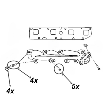 Jeep Grand Cherokee WH / WK Auspuff Anbauteile