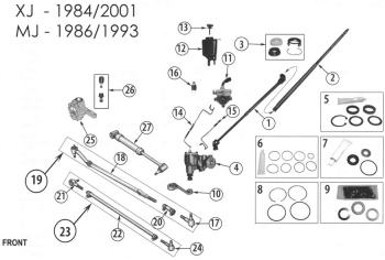 Jeep Cherokee XJ Tie Rod End Left to Pitman Arm year 84-90