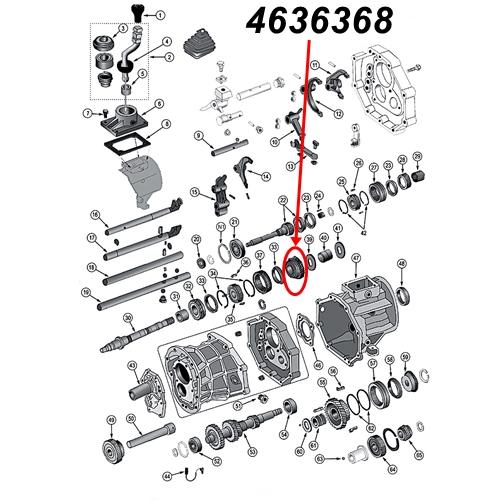 Jeep Wrangler TJ 1st Gear AX15 manual Transmission 96-99