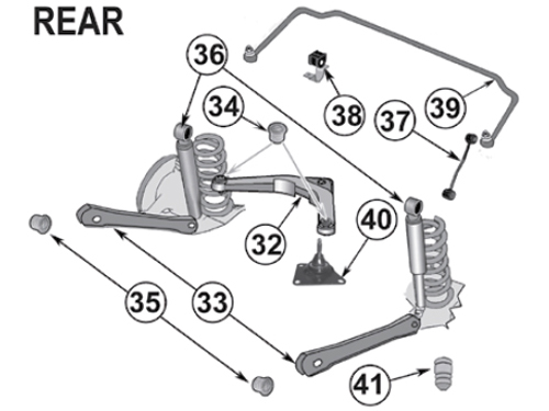 Jeep Grand Cherokee WJ / WG Ball Joint Upper Arm Rear