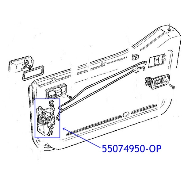 Jeep Wrangler YJ Latch for Half Door Right Side 87-95