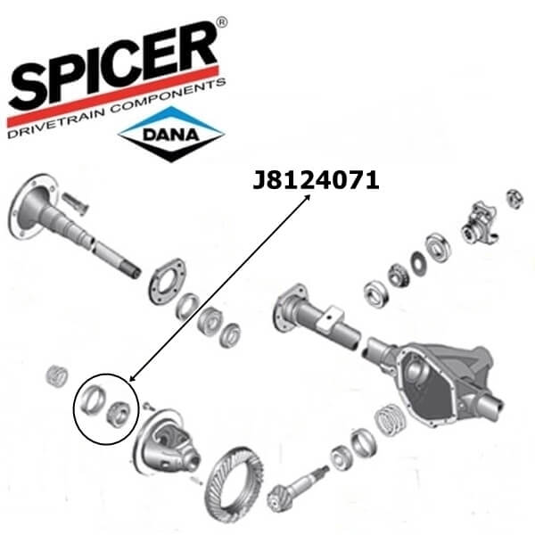 Jeep Wrangler TJ Set Differential Side Bearing 4-pcs. for