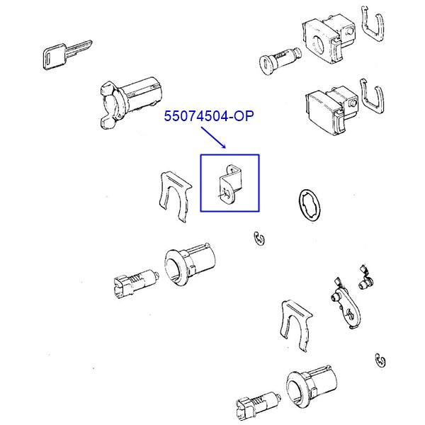 Jeep Wrangler YJ Cherokee XJ Lever Door Lock Cylinder