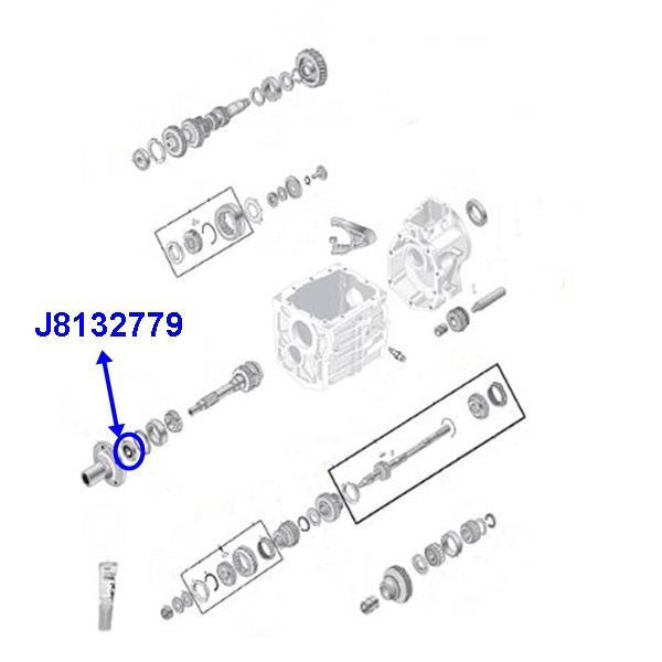 Jeep CJ CJ5 CJ7 CJ8 Input Shaft Front Seal Transmission T4