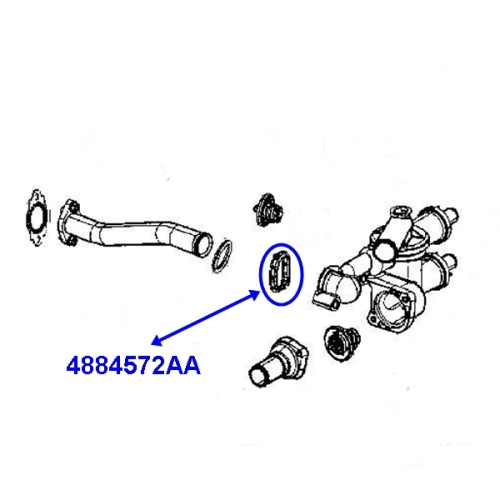 Jeep Patriot Compass MK 2,0 + 2,4 ltr. Thermostat Housing
