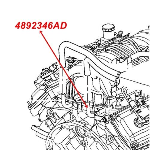 Jeep Grand Cherokee WH WK 5,7 ltr. Heizungsrohr HVAC Rohr