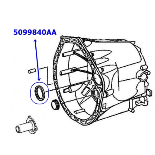 Jeep Wrangler TJ frontcase Input Seal NSG370 6-Gear manual