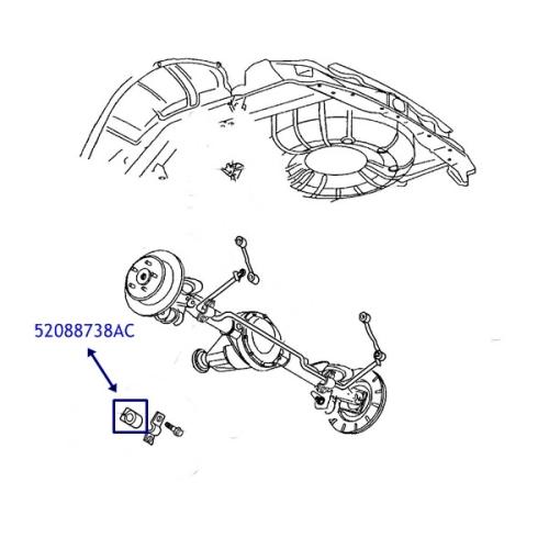 Jeep Grand Cherokee WJ / WG Stabilisator Gummi Stabigummi