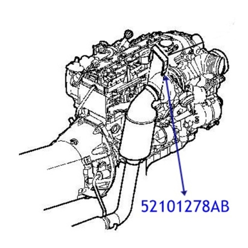 Jeep Grand Cherokee WJ / WG 2.7 L Diesel Schelle Clip Kat