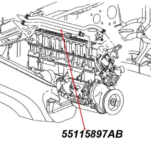 Jeep Grand Cherokee WJ WG 3,1 ltr. Diesel Heizungsschlauch