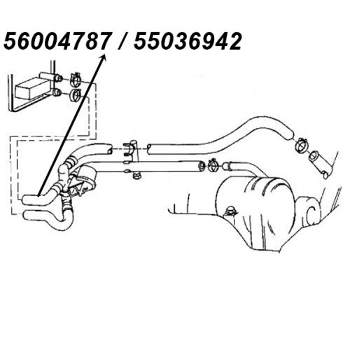 Jeep Cherokee XJ 2,5 & 4,0 ltr. Heizungsschlauch HVAC