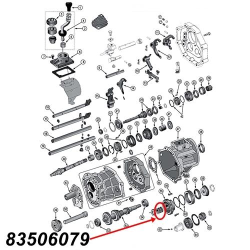 Jeep Wrangler TJ 5th. Gear Bearing AX15 manual