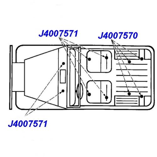 Jeep Wrangler YJ TJ one Body Mount Bolt 7/16