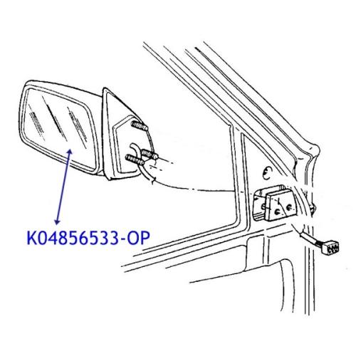 Jeep Grand Cherokee ZJ Spiegelglas Außenspiegel VL 96-98