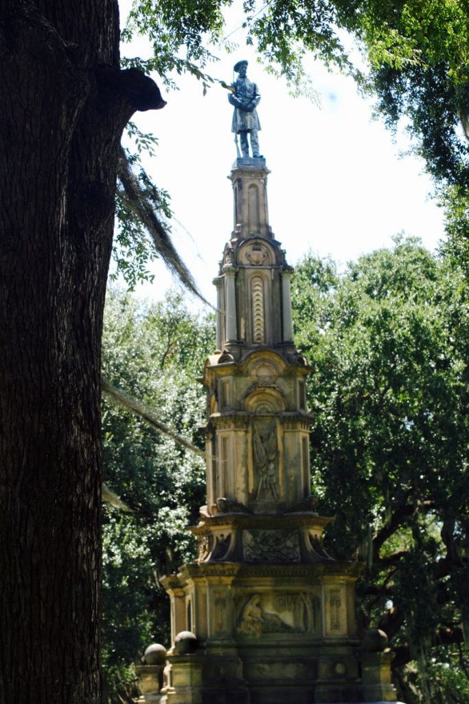 The Confederate Monument in Forsyth Park, Savannah – unveiled May 22, 1879