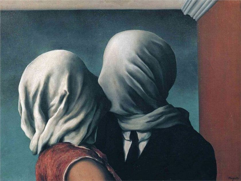 The Lovers 2, 1928 by Rene Magritte