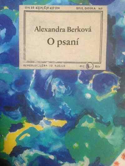 Alexandra Berková – O psaní