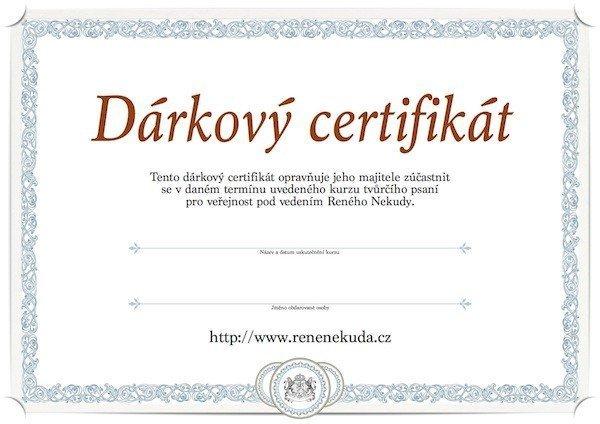 Dárkový certifikát #3 – kurzy tvůrčího psaní
