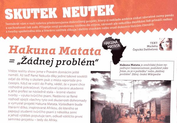 Pravý domácí časopis, rozhovor s Reném Nekudou