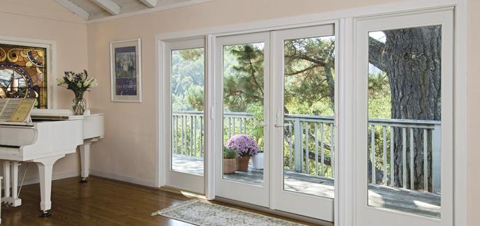 hinged french patio doors window