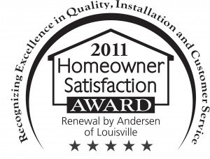 Great Service Earns the 2011 Homeowner Satisfaction Award