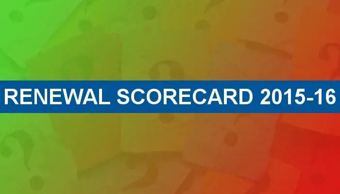 Renewal Scorecard 2015-16