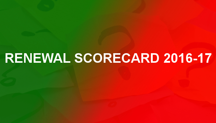 Renewal Scorecard 2016-17 - Cancelled Or Renewed Return Dates