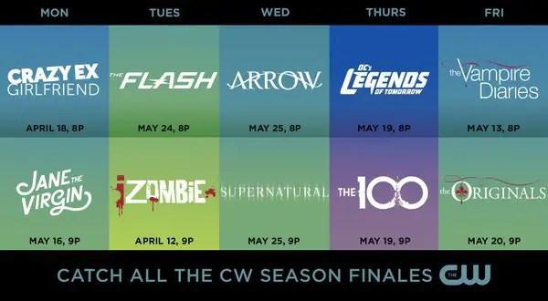cw finale dates