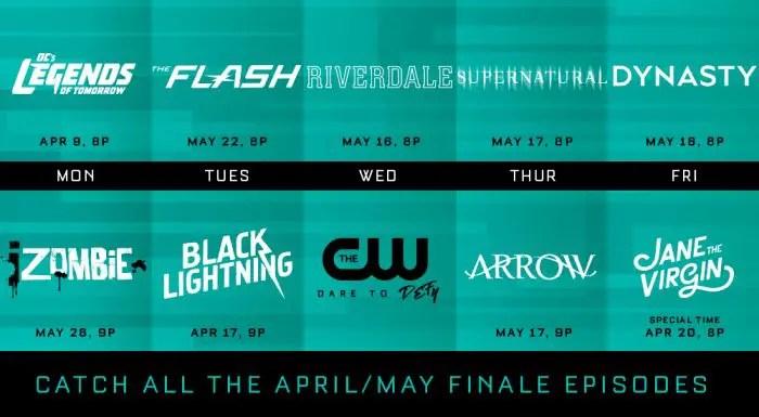 CW 2018 Finale Dates