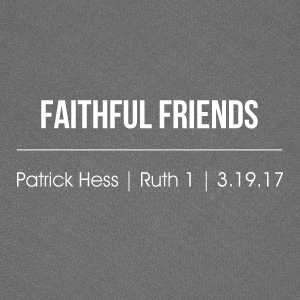 Faithful Friends - Patrick Hess