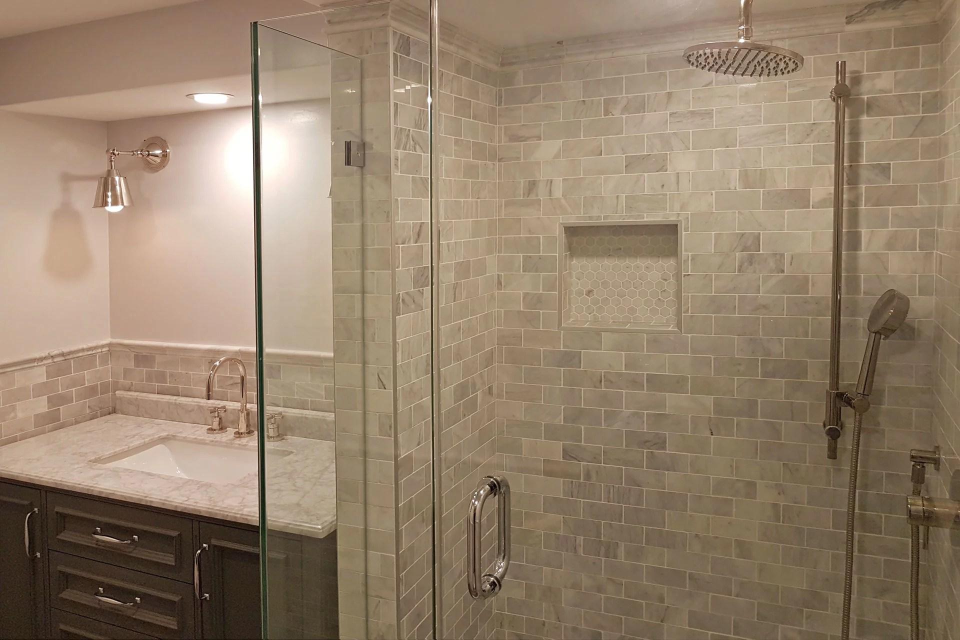 tile installation showers
