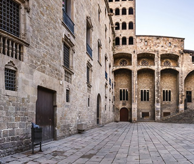 The Monumental Ensemble Of The Placa Del Rey Is One Of The Locations That Best Show The Medieval Past Of Barcelona On The Square You Will Find The Palau