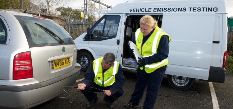 Five drivers caught in vehicle emissions crackdown