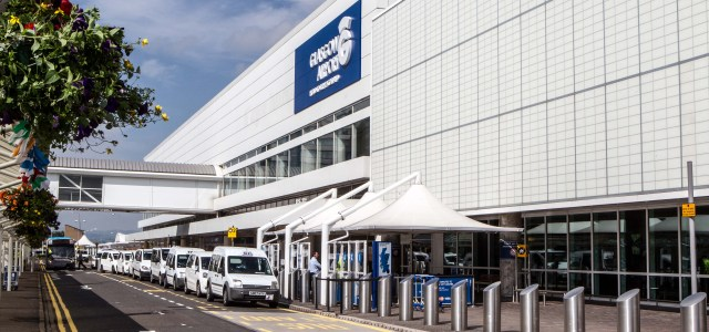 Glasgow Airport worker remains in a critical condition after falling 30ft on Friday